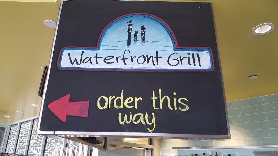 National City, Califórnia: Waterfront Grill Ordering Sign