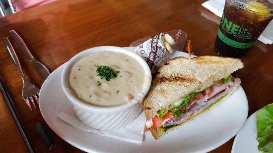 National City, CA: New England Clam Chowder With 1/2 Turkey & Roast Beef Sandwich