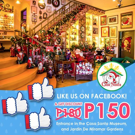 Like us on facebook and get P30-off on your entrance fee!