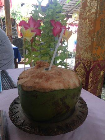 Anturan, Indonesia: Lawar & fresh coconut