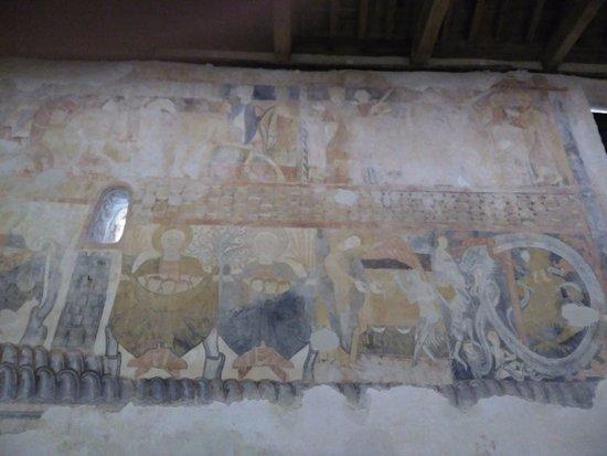 Gormaz, Spanyol: Frescos de una de las paredes