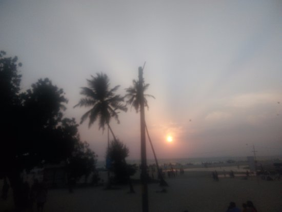 Colva Beach view in evening