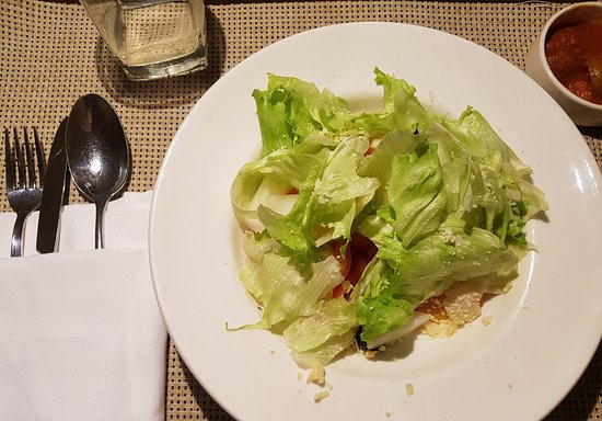 """Nedumbassery, India: The """"ceasar's salad"""". No taste, no dressing, no quantity."""