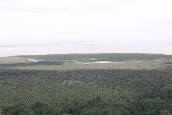 The view of Lake Manyara National Park