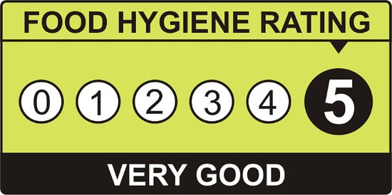Burton upon Trent, UK: We're proud to have a 5 star food hygiene rating!