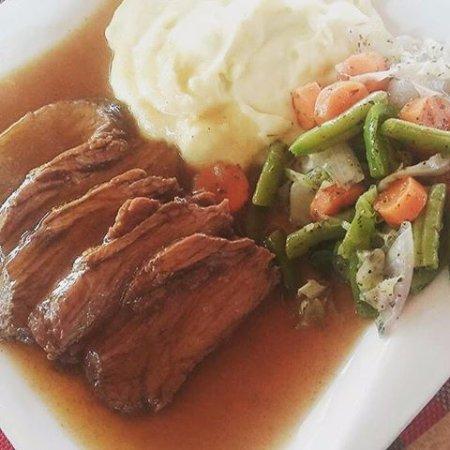 Tema, Ghana: Roasted beef and mashed potatoes