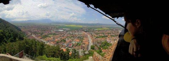 výhľad z pevnosti Rasnov