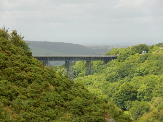 Okehampton, UK: Meldon viaduct from Meldon Dam