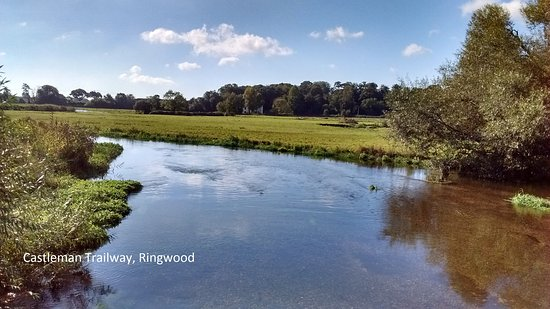 Ringwood, UK: From a railway bridge, river Avon