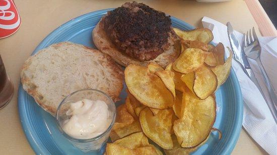 Suplexio: Hamburguer simples com batata doce