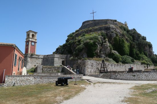 Old Fortress Corfu: It's worth the climb to the top for the view.