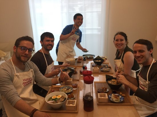 Arakawa, ญี่ปุ่น: Ramen & Gyoza class at YUCa's Japanese Cooking class.