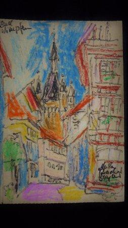Bad Wimpfen, Germany: Blick aus einer Gasse zum Blauen Turm