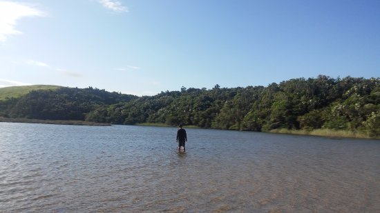 Kei Mouth, South Africa: Searching for fish in the Qolora River.