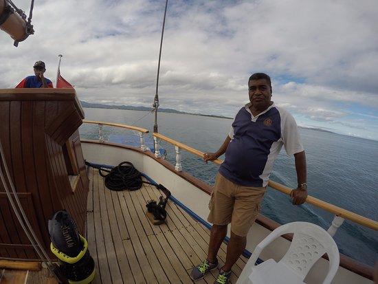 Denarau Island, Fiyi: Mike enjoying hosting a top day