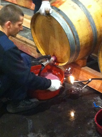 Rendez-vous au Chateau: Traditionnel racking with the candle..