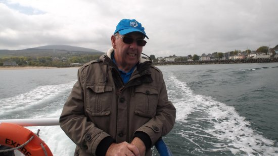 Ballycastle, UK: At the bow of the fast ferry