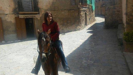 Talamanca, Spain: riding to the nearby village Mura