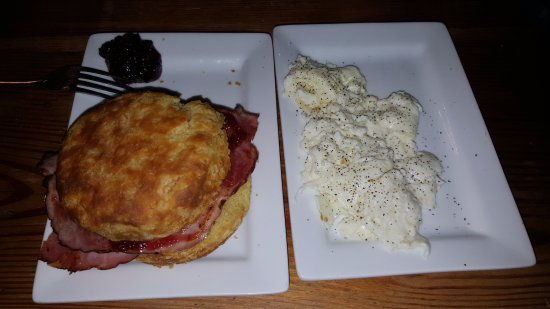 Clayton, MO: Ham Biscuit with egg whites