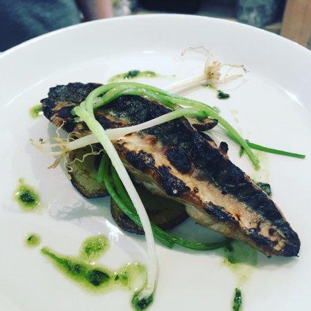 Valley, UK: Local mackerel with Grandad Yendle's wild garlic