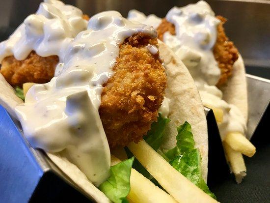 Claremont, Nueva Hampshire: Fish n Chips Taco