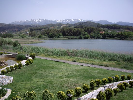 View From Lake Agia Cafe