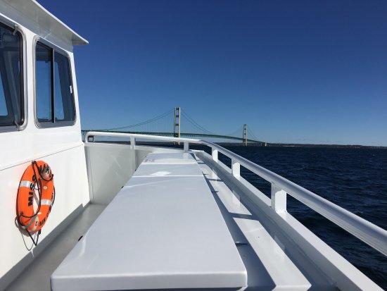 Mackinaw City, MI: Mighty Mac ride under the Mackinac Bridge! Unforgettable Fun!