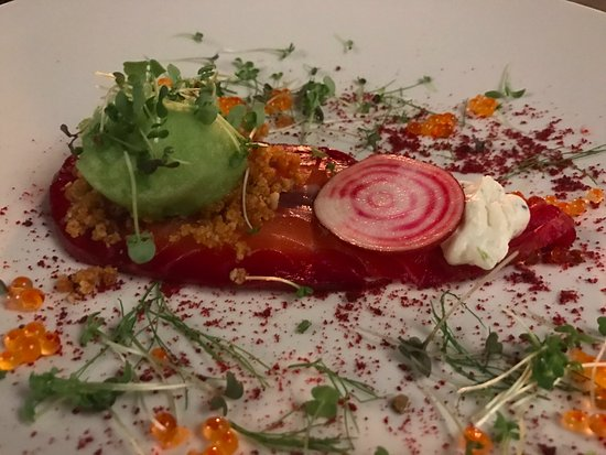 Franschhoek, Zuid-Afrika: Beetroot cured salmon