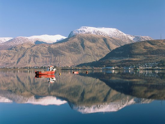 The town of Fort William and Ben Nevis