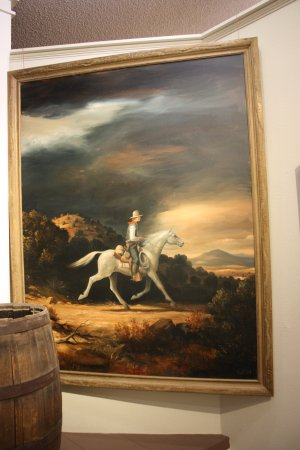 Lincoln, Nuevo Mexico: seems billy always rode a white horse