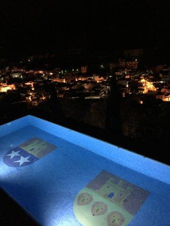 Pool and night view over Monda
