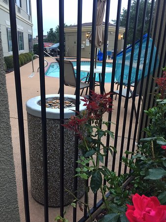 Mesquite, TX: Pool is also the smoking area. Sorry Kids your not swimming in there!!!!!!