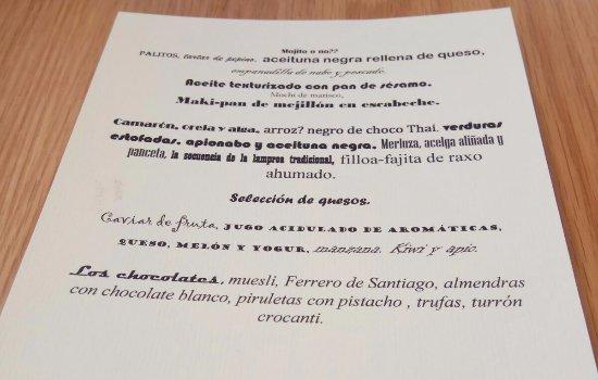Poio, Spain: Carta