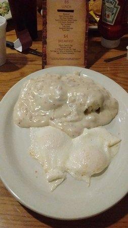 Bartow, FL: Biscuit/Sausage Gravy/Eggs $4.00
