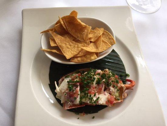 The Sea Grill: lobster nacho starter! YUM