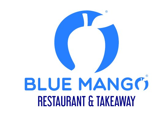 Rainhill, UK: New Blue Mango Logo