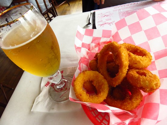 The Crab Claw: Onion rings - good but way over priced