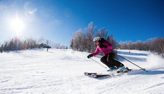 Saint-Faustin-Lac-Carre, Canada: Hébergement en bordure des pistes et de la plage