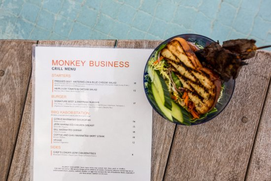 Bimini: Sip on your favorite tropical libation and enjoy grilled bites at Monkey Business.