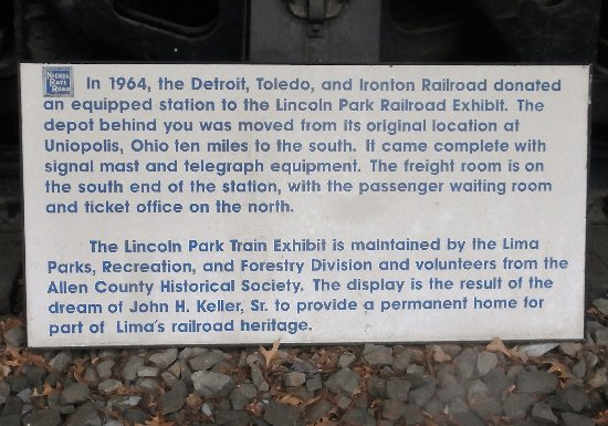 Lima, OH: Information sign about the exhibit