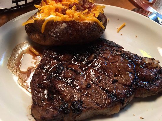 College Station, TX: Ft. Worth Ribeye with baked potato