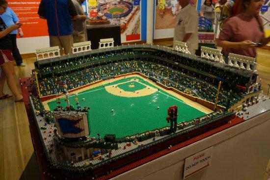 Wrigley Field - in Legos! - Picture of Louisville Slugger Museum ...