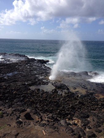 Spouting Horn: Can be a windy location.