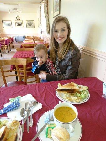 Llanuwchllyn, UK: Station's cafe