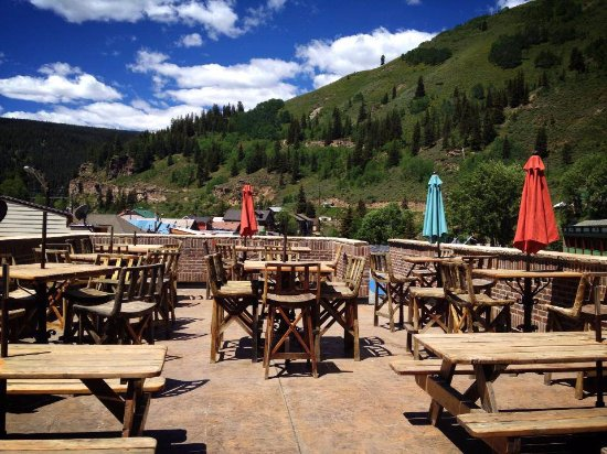 Red Cliff, CO: The 3rd Floor Deck at Mango's Mountain Grill.