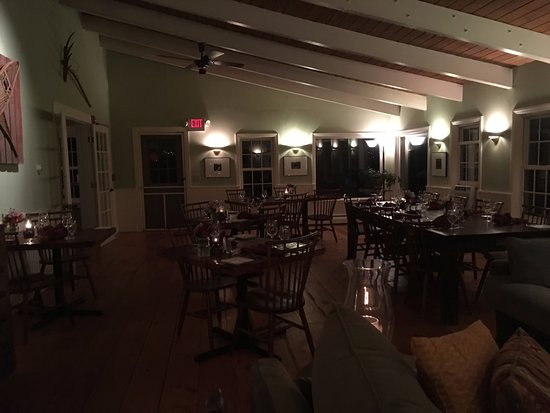 Mendon, VT: One half of the dining room, with gorgeous views (when light was still out)
