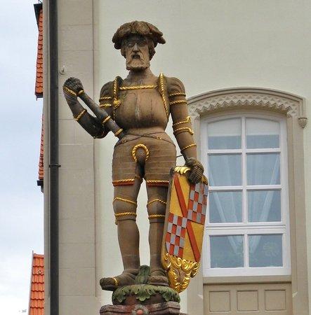 Besigheim, Germany: Landsknecht mit badischem Schild