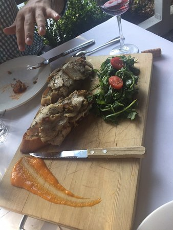 Larkspur, CA: Porchetta with fresh arugula salad
