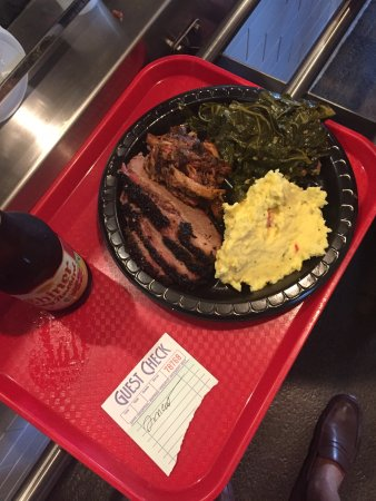 Pearland, TX: brisket and pulled pork, collards