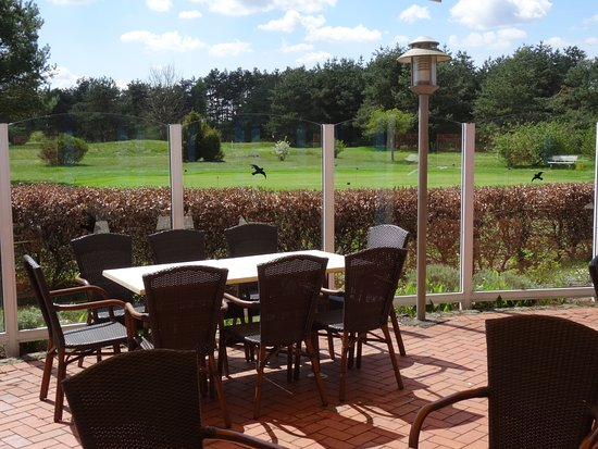 Golf Club Munster: Clubhouse patio